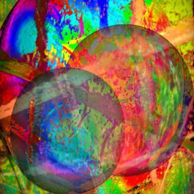 Rayons de soleil sur boules colorées, Manfred  La-Fontaine