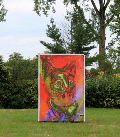 Manfred La-fontaine, le chat, Plemet,