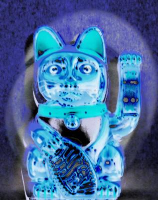 Le chat bleu - Porte-bonheur, Manfred La-Fontaine,