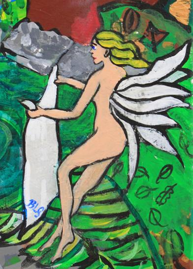 nude woman at the well of Kermore, Johnny Langton-Lockton